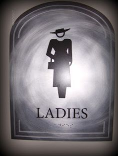 if Downton had public restrooms, this is what the sign would look like.