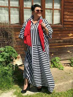 """Купить Платье """"Полоска"""" - бохо, платье, большие размеры, Платье нарядное, полосатое, платье летнее"""