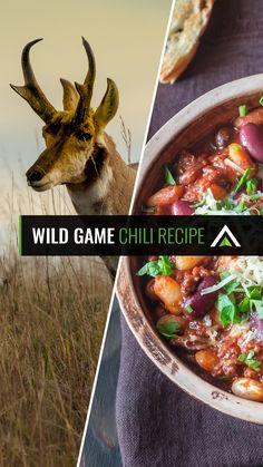 Wild Game Chili Recipe, Beef Chili Recipe, Chili Recipes, Soup Recipes, Game Recipes, Venison Recipes, Grilling Recipes, Crockpot Recipes, Deer Recipes