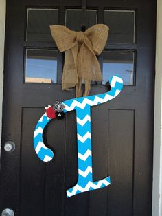 """Chevron """"T"""" I painted for my two front doors"""