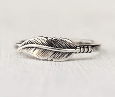 Sterling Silver Feather Ring - Statement Ring - Novelty Ring  - Rustic Ring - Feather Jewelry - Bohemian Jewelry - Recycled Silver by lovestrucksoul on Etsy https://www.etsy.com/listing/222251822/sterling-silver-feather-ring-statement
