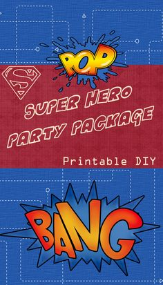 Super Hero Printable Party