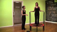 This workout is for rebounding beginners.  Et abonnez-vous à la chaîne sur You Tube. Vous trouverez des exercices selon vos capacités.