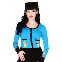 Cardigan Gilet Pin-Up Rétro Rockabilly Asian Kitty