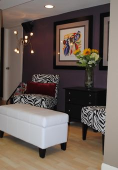 2 Accent Chairs 1 Small Dresser 1 Ottoman 2 Black And White Framed Art  Works 1 · Salon Waiting ...