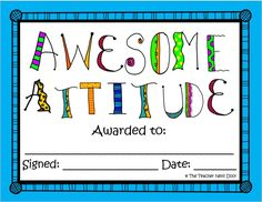This is one of the 40 End of the Year Award Certificates by The Teacher Next Door. Each award comes in two versions: colorful or printer friendly. With 40 awards, you're bound to find one that's just right for each child. $