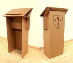 Resultado de imagen para Cardboard podium