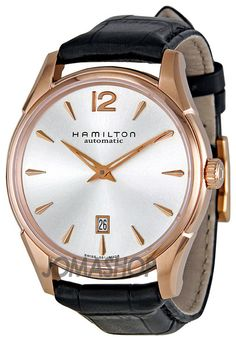 Hamilton Jazzmaster Silver Dial Black Leather Strap Mens Watch H38645755