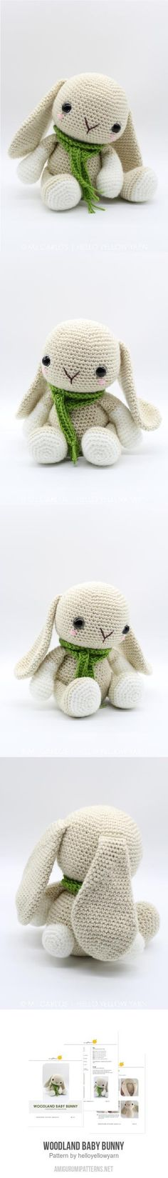 Woodland Baby Bunny Amigurumi Pattern