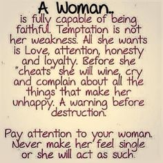but a true woman will fess up to her man and tell the truth...not run off to fuck some random dude that chatted and cyber sexed her up on the internet and then claim to be a faithful true one true love kind of woman ...what a joke!!