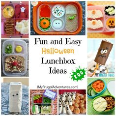 Halloween Lunchbox Ideas- tons of quick and easy ideas for fun lunchboxes!  Most of these are heathy foods that the kids will love.