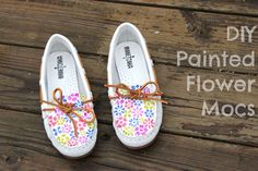DIY Flower Painted Mocs - A Little Craft In Your DayA Little Craft In Your Day