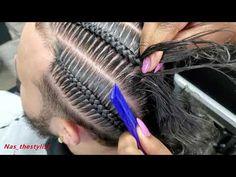 How to do stitch braid (Satisfying stitch braid video) 4 Cornrows Braids, Cornrows Natural Hair, Mens Braids, Twist Braids, Braided Hairstyles Updo, Braids Hairstyles Pictures, Big Box Braids, Box Braids Styling, Natural Hair Recipes