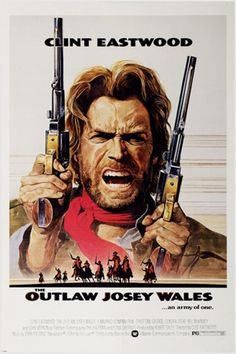 The Outlaw Josey Wales - starring Clint Eastwood - Classic Western Movie Poster Print - or - * The large poster size fits into a standard sized frame available at Target, Walmart etc. Other Clint Eastwood movies: Classic Movie Posters, Movie Poster Art, Classic Movies, Poster Poster, Print Poster, Kyle Eastwood, Clint Eastwood Poster, Western Film, Western Movies
