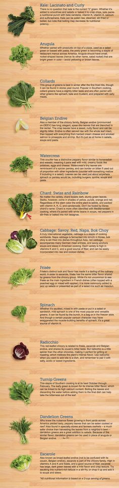 Ever wonder about the different kinds of greens and how they're all different?  Leafy Greens 101 | The Body Department