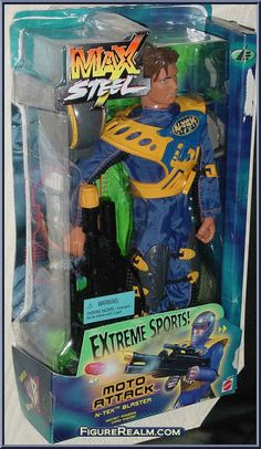 Max Steel toys 2000 | Moto Attack Max Steel from Max Steel - Extreme Sports manufactured by ...