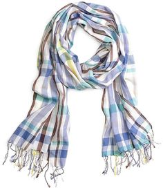 Brooks Brothers コットン プレイド ストール / Cotton plaid scarf on ShopStyle