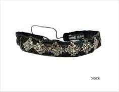 Sequin Mosaic Headband in Black - Jane Tran Hair Accessories
