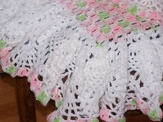 CROCHET RUFFLE EDGING BABY BLANKET – Only New Crochet Patterns