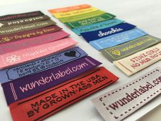 Design your Wunderlabel Fabric Tag Labels online. Fabric labels with stylish frames, starting at $20 for 50 labels. We have several new frame designs for you to choose. Hundreds of fonts, colors and symbols. You can have up to 3 lines of text. Wunderlabel offers fast delivery which you will receive in less than two weeks! If you have your own logo, this listing will NOT work, please head over to our website instead: https://wunderlabel.com/woven-labels/with-your-logo Our ...