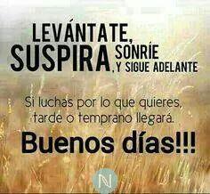Buenos días!!!  No saben que ponerse hoy?... pues pónganse felices 😊😊😊, hoy es un nuevo día para triunfar!!!