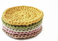 Crochet Face Scrubby Set  Cotton Facial Cleansing by TheGreenDaisy