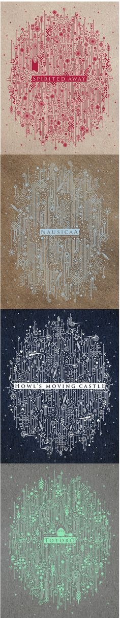 Studio Ghibli Pattern Posters by Thumy Phan.
