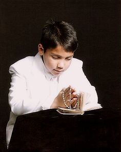 My son's first communion photo