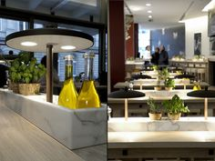 Vapiano Italian cuisine: fast food service with slow food quality. A tasteful interior design for a tasty eating experience; food preparation as a performing art.