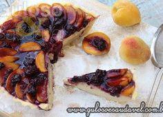 Cheesecake de Pêssego com Coulis de Amora