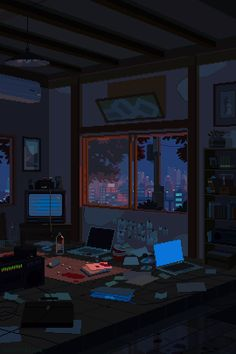 Moderne Stillleben: Pixel-Art-Gifs von Waneella You are in the right place about beautiful GIF Here we offer you the most beautiful pictures about the GIF estrellas you are looking for. Aesthetic Anime, Aesthetic Art, Night Aesthetic, Cyberpunk, Arte 8 Bits, 8bit Art, Graphisches Design, Design Concepts, Interior Design