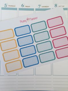 Mermaid Glitter Half Box Planner Stickers   Erin Condren, Kikki K, InkWell, Plum Planner, Scrapbook by PeonyPlanner on Etsy