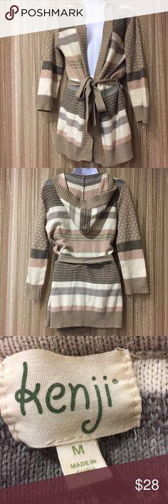 Kenji Sweater with hood Gentle used.  Very cute sweater! Bundle and save  Kenji Jackets & Coats