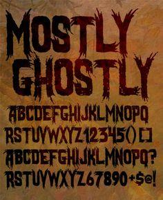 Sinister Fonts: Chad Savage's free, original horror, scary and Halloween fonts Halloween Fonts, Halloween Labels, Vintage Halloween, Halloween Crafts, Halloween Decorations, Gangster Fonts, Scary Font, Metal Font, Goth Art
