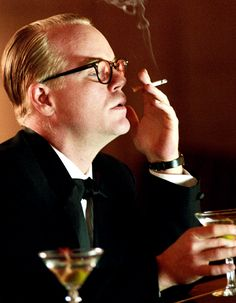 """Philip Seymour Hoffman """"God bless you everyone"""" """"Capote"""" I looked at this for the Martini, Msg"""