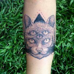 Tattoo#ink#gato#cat