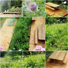 """Endlich hatten wir Zeit und konnten den ersten Teil des Projekts """"Neue Lernräume"""" (Diskussions- und Entspannungsdeck) inmitten unserer Schmetterlingswiese abschließen. :-)  #outdoorpädagogik #ausbildung #natur"""