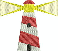 Lighthouse digital embroidery design by EmbroideryDesignsBRN Lighthouse, Embroidery Designs, Stitch, Digital, Nautical, Color, Bell Rock Lighthouse, Navy Marine, Light House