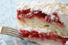 4HealthyRecipes.com     Fresh Strawberry Cake