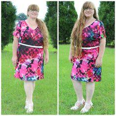 PRISMATIC FLORAL SHIFT DRESS #ShareMeGB #GwynnieBee