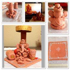 Making of Clay ganesha!!