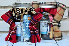 Holiday Survival Kit in a Mason Jar - The possibilities for these are endless! Teacher gifts, neighbor gifts, girlfriend, co-workers. You can modify what you put in based on the recipient. | Southern State of Mind