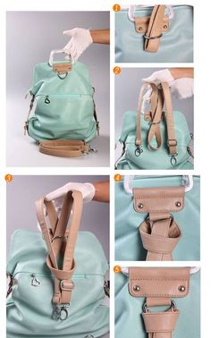 fashion Unique Fresh Multifunction Backpack & Handbag & Shoulder Bag