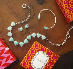 In love with Aqua this fall. Get the whole set at affordable prices at Stella & Dot