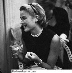 Edward Quinn, Grace Kelly bei einem Presse-Cocktail im Hotel Carlton, Cannes 1954