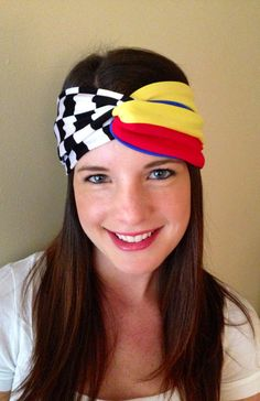 Nascar Headband, Black and White Checkered Headband, Racing Headband,  Speedway Headband on Etsy, $17.50
