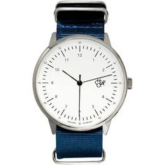 0e6f726f2e9b Cheapo Watch Harold Nylon - Navy White Silver 0209DW