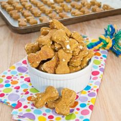 Peanut Butter Pumpkin Dog Treats! Easy peasy recipe for even first time bakers!I tried them out last night!Instead of 1/2 teaspoon of salt, I did 1/4 teaspoon of chicken stock (powder).I also amped up the pumpkin to 1 can and 1/4 cup. Javi loves his pumpkin.The cookie cutter preference is up to you. I made Javi's into little foxes.The cookies were less hard than the recipe, a little soft, but that's how he likes it anyway so it was perfect!PREP TIME: 15 minutes COOK TIME: 35…