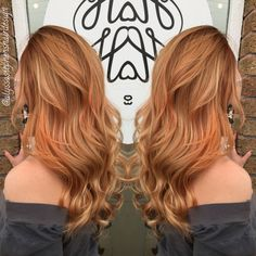 Strawberry blonde bombshell. Copper. Hair by Alyssa Stephens