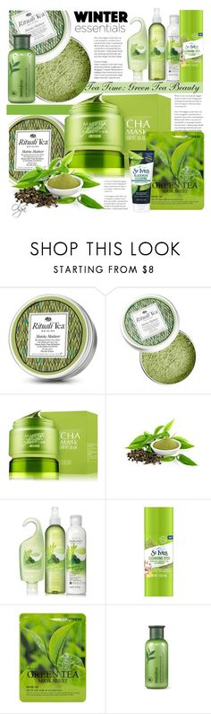 """Green Tea Beuthy Set"" by olga1402 on Polyvore featuring beauty, Avon, St. Ives, Forever 21, Innisfree and GreenTeaBeauty"